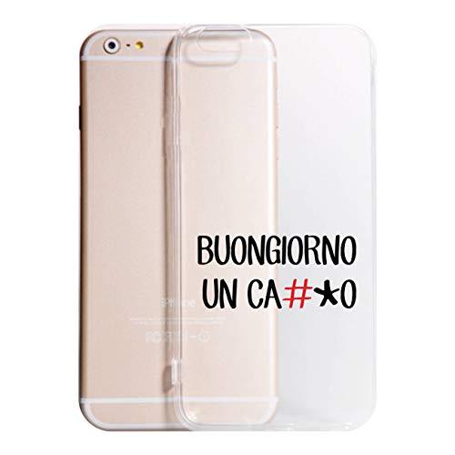 Social Crazy Cover iPhone XS - XR - XS Max -6-6 Plus - 6S - 6S Plus - 7-7 Plus - 8-8 Plus - X - BUONGIORNO Un CA**O Trasparente Vari Colori AntiGraffio Antiurto Case Custodia