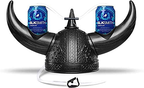 BLKSMITH Beer Helmet | Drinking Hat | Beer Accessories | Drinking Accessories for Adults & College | Fits 16' - 24' Head