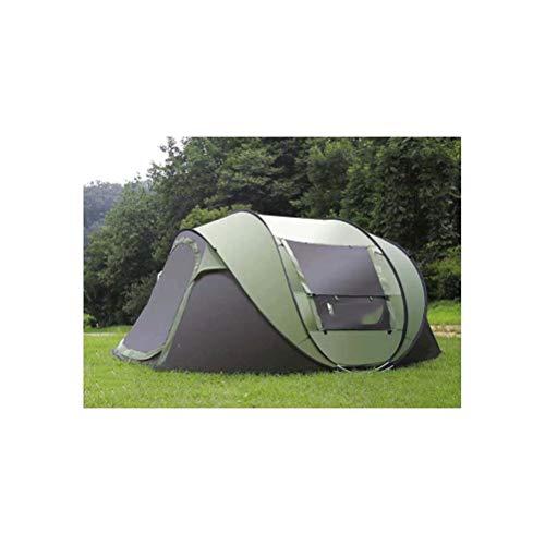 Goushi Carpa Emergente Súper Automática para 4-5 Personas Carpa De Playa Ultralarga Gazebo Refugio para El Sol Tente Camping (Color : A)