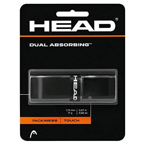 HEAD Unisex-Erwachsene Dual Absorbing Griffband, Black, Einheitsgröße