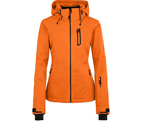 Bergson Damen Skijacke Nice Light, Persimmon orange [513], 36 - Damen