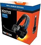 Tritton KAMA Kits PS4/ PS Vita Oreillette Casque Arceau Tête Connecteur(s):Jack 3,5...