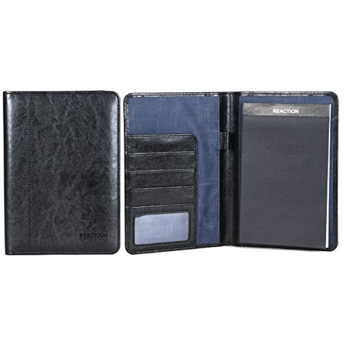 Kenneth Cole Reaction Faux Leather Mini Bifold Writing Pad, Black