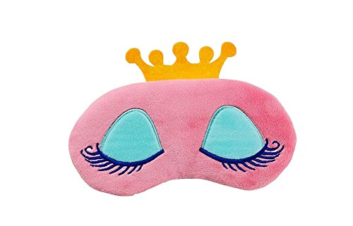 1PCS Baumwolle Nette Wimpern Crown Design Schlafmaske Augenmaske Augenklappe Nacht Augenbinde Eyeshade mit verstellbaren Elastischen Gurt für Männer Frauen Reise Schlaf Verwenden (farbe Zufällig)