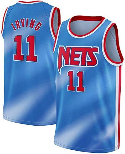 WSWZ Maglia da Basket NBA da Uomo - Brooklyn Nets 11# Kyrie Irving NBA Maglie - Maglietta Unisex Comoda da Basket Sportiva Canotta,XL(180~185CM/85~95KG)