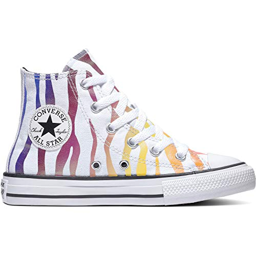 Converse Chuck Taylor All Star Hi Archive Zebra Blanco/Negro Tela Júnior Entrenadores Zapatos