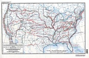ROUTES OF PRINCIPAL EXPLORERS IN THE U.S. 1501-1844
