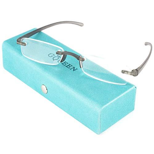 Gafas de Lectura para Hombre, Gafas de Lectura para Mujer TR90 Sin Montura Sin Marco 1.5,LH08