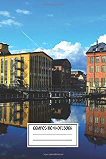 Composition Notebook: Urban Landscapes Norrköping Norrkping Wide Ruled Note Book, Diary, Planner, Journal for Writing