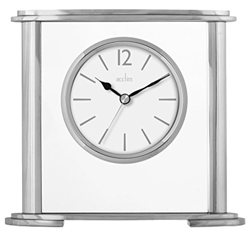 Acctim 36957Colston Metall und Glas Tisch Uhr in Silber