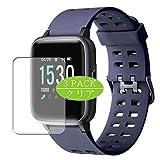 VacFun 3 Piezas HD Claro Protector de Pantalla para Yamay 1.3' Smart Watch Smartwatch SW020, Screen Protector Sin Burbujas Película Protectora (Not Cristal Templado)