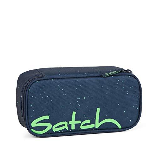 Satch Schlamperbox - Mäppchen groß, Trennfach, Geodreieck - Space Race - Blau