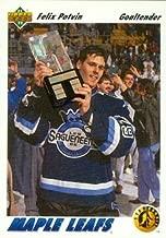 Felix Potvin Hockey Card (Toronto Maple Leafs) 1991 Upper Deck Rookie #460