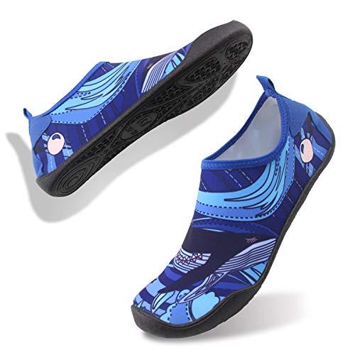FELOVE Calzado para Mar y Deportes Acuáticos Unisex Adultos,Secado Rápido Natación Zapatos,Coral Shoes Zapatillas Chanclas para Hombres y Mujeres