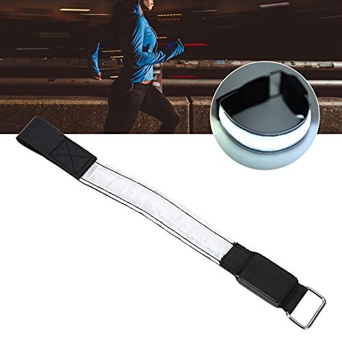 Muñequera nocturna, brazalete reflectante Brazalete para correr LED Brazalete LED ligero Resistencia plegable para corredores para actividades nocturnas al aire libre(white, Pisa Leaning Tower Type)