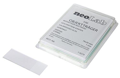 Neolab 1 6274 diapositives avec Mat Edge Edge Cut, 76 mm x 26 mm Blanc (lot de 100)