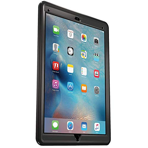 Rugged Protection OtterBox Defender Case for iPad Pro 12.9' (1st Generation ONLY) with Hands-Free Stand - Bulk Packaging - Black