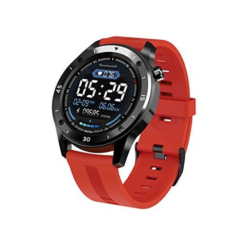 F22 Relojes Deportivos Inteligentes para Hombre Mujer Regalo Inteligente Reloj Inteligente Rastreador de Ejercicios Pulsera iOS Relojes Inteligentes inalámbricos - Rojo