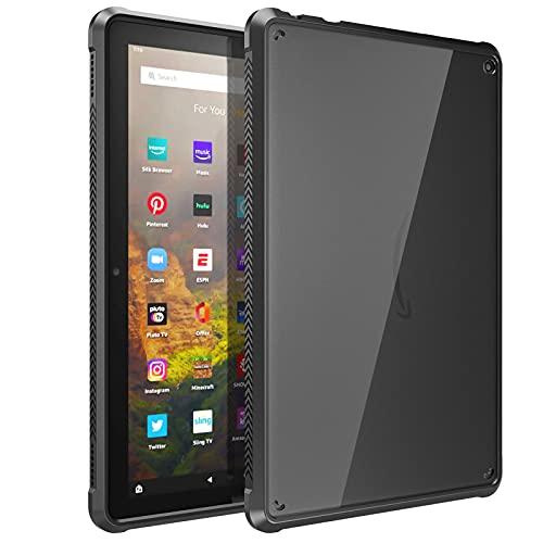 """TiMOVO Funda Compatible con Todo Nuevo Fire HD 10 & Fire HD 10 Plus Tablet (10.1"""", 11.ª Generación, 2021), Ultra-Delgado y Suave Case de TPU con Borde de Almohada, Negro"""