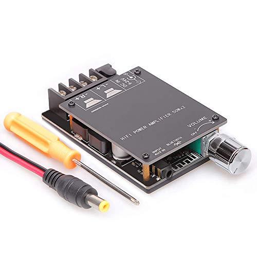 Greluma Placa de Amplificador Bluetooth,módulo de Amplificador de Audio estéreo Digital de 50W+50W con Carcasa para Bricolaje,Filtro de Alta fidelidad TPA3116D2 Clase D