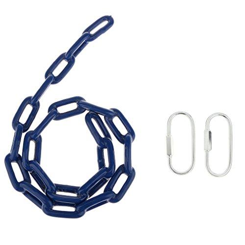 Injoyo 1M Hierro Columpio Asiento Cadena Cuerda Snap Hook Playground Park Swing Kits Azul