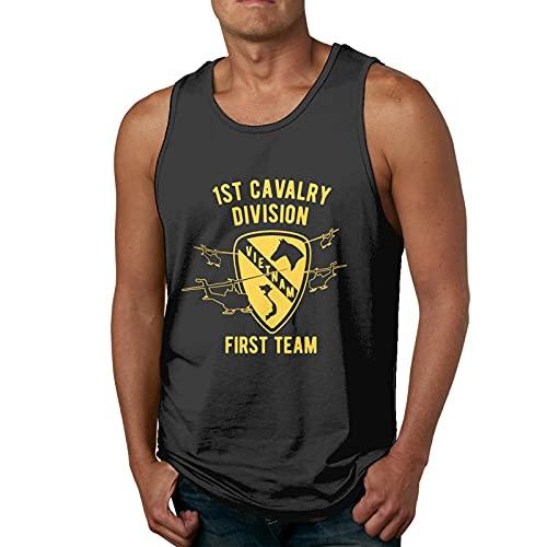 Yuanmeiju Primera división de caballería Vietnam Combat Veteran Mans Tank Top Shirt Camisetas Deportivas