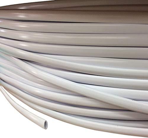 25' White Oval Vinyl Cord Spline Strapping Plastic Mid Century Retro to Repair Patio Furniture Beach Chair