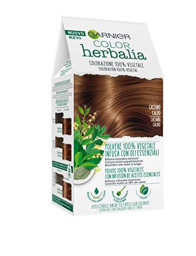 Garnier Herbalia Coloración 100% Vegetal - Castaño Cálido, disponible en 6 tonos