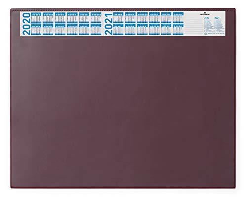 Durable 720403 Schreibunterlage (mit Vollsichtplatte und Kalender, 650 x 520 mm) 1 Stück rot