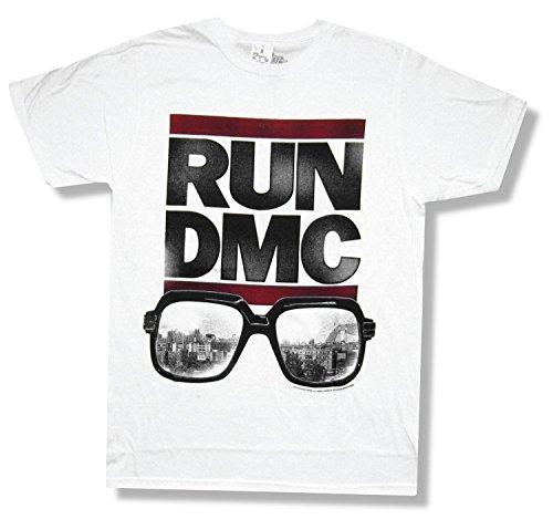 Sixty One Run DMC - Glasses Logo T-Shirt,White,X-Large