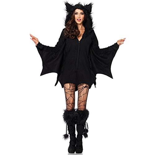 Halloween de la hembra atractiva del traje de Batman papel que juega al juego cosplay uniforme de Batgirl Batman señoras traje adulto del tamaño extra grande ( Color : Bat suit+socks , Size : XXL )