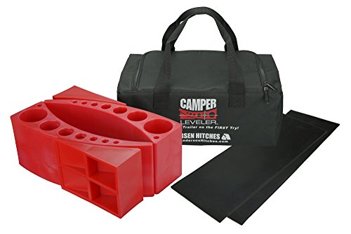 Andersen 2-Pack Camper Leveler Plus 2 Rubber Mats in Sturdy Carry Bag with Double Handles
