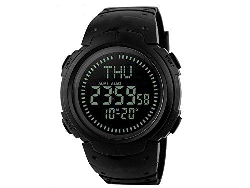 OVVO impermeabile elettronico digitale orologio bussola Outdoor Explore Navigation Tools (nero)