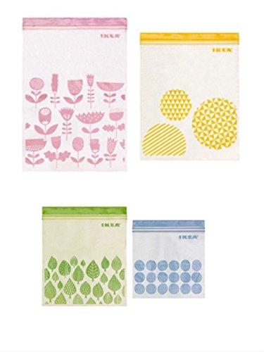 ☆2016NEW☆ IKEA ISTAD プラスチック袋 アソート 合計80ピース (ピンク&イエロー)30ピース (グ...