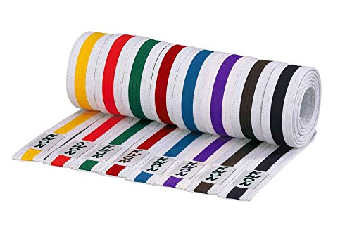 KWON Budogürtel mehrfarbig 280 weiß-braun-weiß