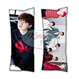 Cosplay-FTW Kpop BTS Winter Suga Body Pillow Peach Skin Cotton Polyester Blend 40cm x 100cm (Set of 1, CASE ONLY)