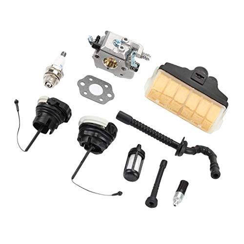 MagiDeal Carburador Filtro de Aire Tapa de Aceite Combustible Tubo de Manguera Kit de Ajuste para WT286