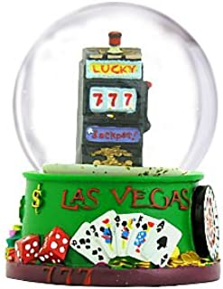 Las Vegas Snow Globe Slot Machine and Welcome to Las Vegas Sign 3.5 Inches Tall