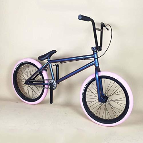 GASLIKE Bici BMX Freestyle da 20 Pollici per Adolescenti e Adulti - Ragazzi, Uomini, Telaio in Acciaio 4130 CR-mo, Forcella e Manubrio, Cerchi in Lega di Alluminio, Cambio 25 × 9T