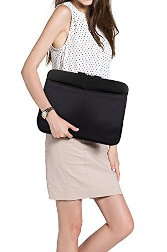 """Tablet Sleeve Messenger Bag with Shoulder Strap Neoprene Protective Cover Case for Amazon Kindle Fire HD 10"""", Fire HDX HD 8.9"""" Tablet (Classic Black)"""