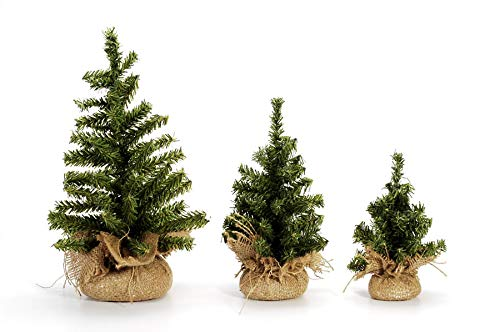 Darice RC-6529 Canadian Tree with Burlap Base - 50 Tips - 8 inches