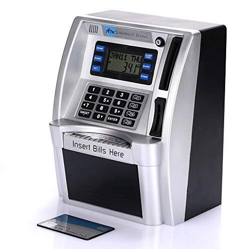 Bancos de Ahorro de cajeros automáticos con Pantalla LCD Inicio Creativo Plata Premium Seguridad Cajas de Dinero de cajeros automáticos Simulación Alcancía de cajero automático Niños