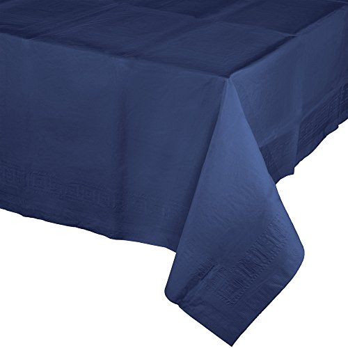 Creative Converting Touch of Color Paper Banquet Table Covers, Navy Blue(Pack of 6) -