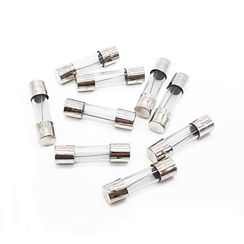 10Pcs 10A Slow Blow Fuse 10 Amp Time Delay Fuse T10AL250V Slow Acting T10AL 250V Glass Fuse 5x20mm