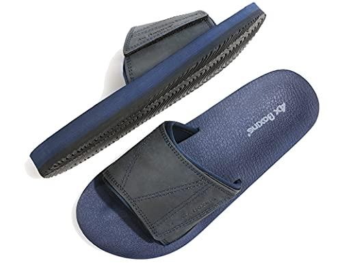 ARRIGO BELLO Uomo Ciabatte Latice/Look Hoop Sandali Piscina Scarpe Infradito Pantofole Flip Flop Estive con Pelle Taglia 41-46 (Blu scuro, Numeric_43)