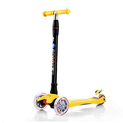 LITIAN Einstellbare Scooter für Kinder Scooter Flash-Scooter Yellow