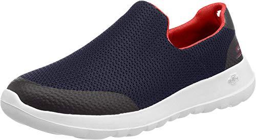 Skechers Men's Go Walk Max Focal On Sneaker,   Blau (Navy Red Nvrd), 41 EU