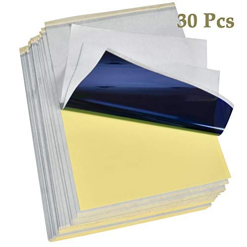 """N/A"" 30 Blatt Carbon Tattoo Papier Profi A4 Kohlepapier Pauspapier Transferpapier Matritzenpapier Schablone Selberdrucken"