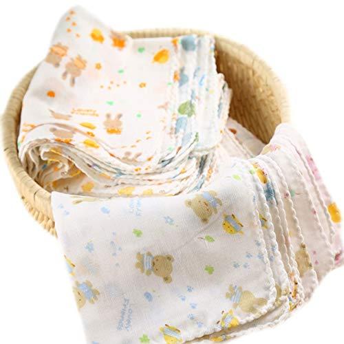 XIAOAOD 8 Teile/los Baby Badetücher Baumwolle Gaze Blumendruck New Born Baby Handtücher Weiche Wasseraufnahme Babypflege Handtuch
