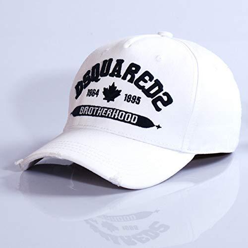 HXXBY Marea uomo Cappello marca Four Seasons Bianco e nero Visiera Berretto da baseball versione coreana di Sun del cappello di marea della gioventù casual selvaggio studente berretto cappello di spor